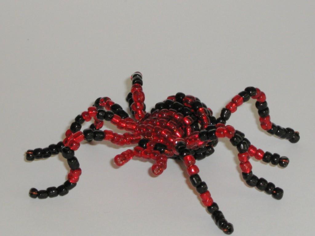 Как из бисера сделать паука для начинающих