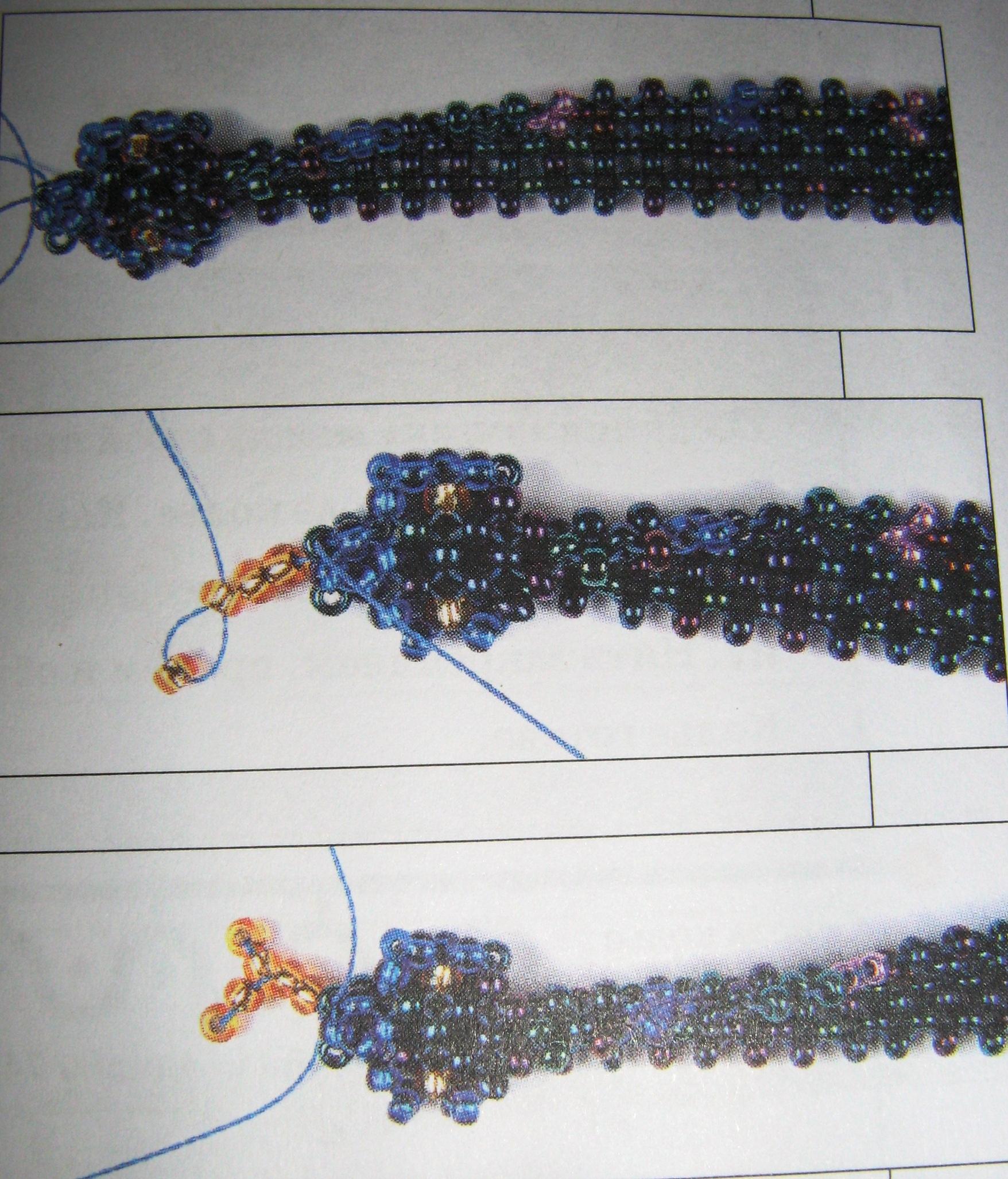 Плетение обычным бисером