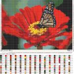 Как вышить бабочку на цветке
