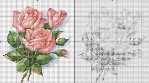 как вышить розу