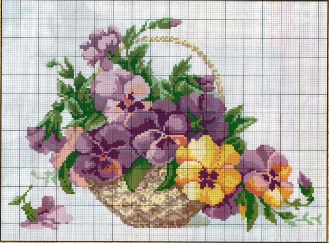 вышивка схемы картин бесплатно: