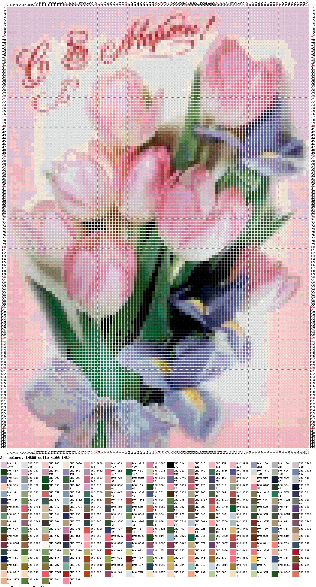 плетение из бисера схемы тульпаны