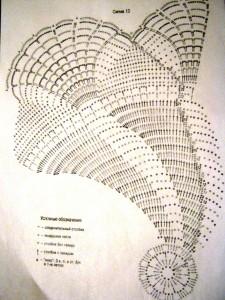 схема большой полосатой салфетки