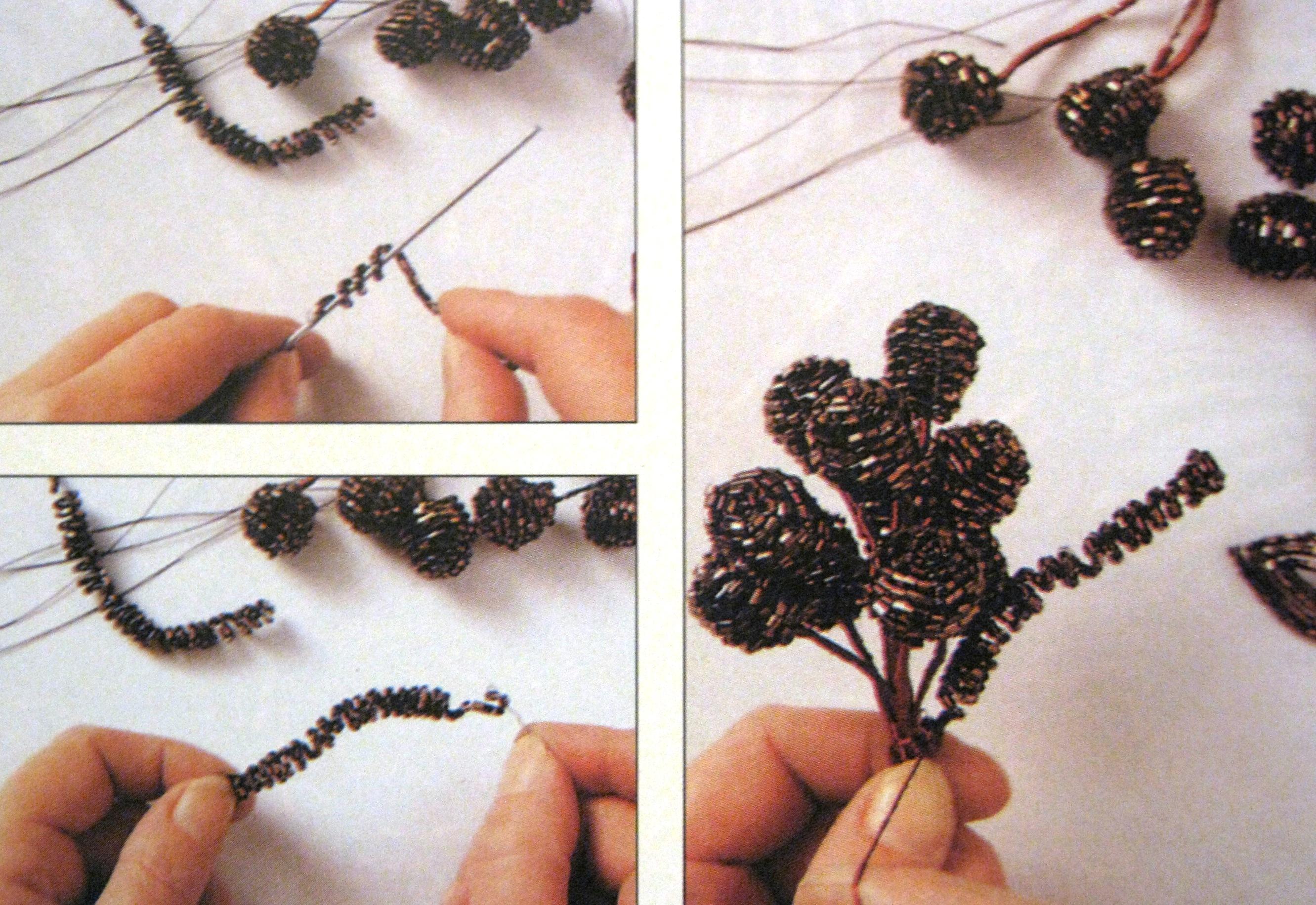 Вышивка лентами ландыши пошагово