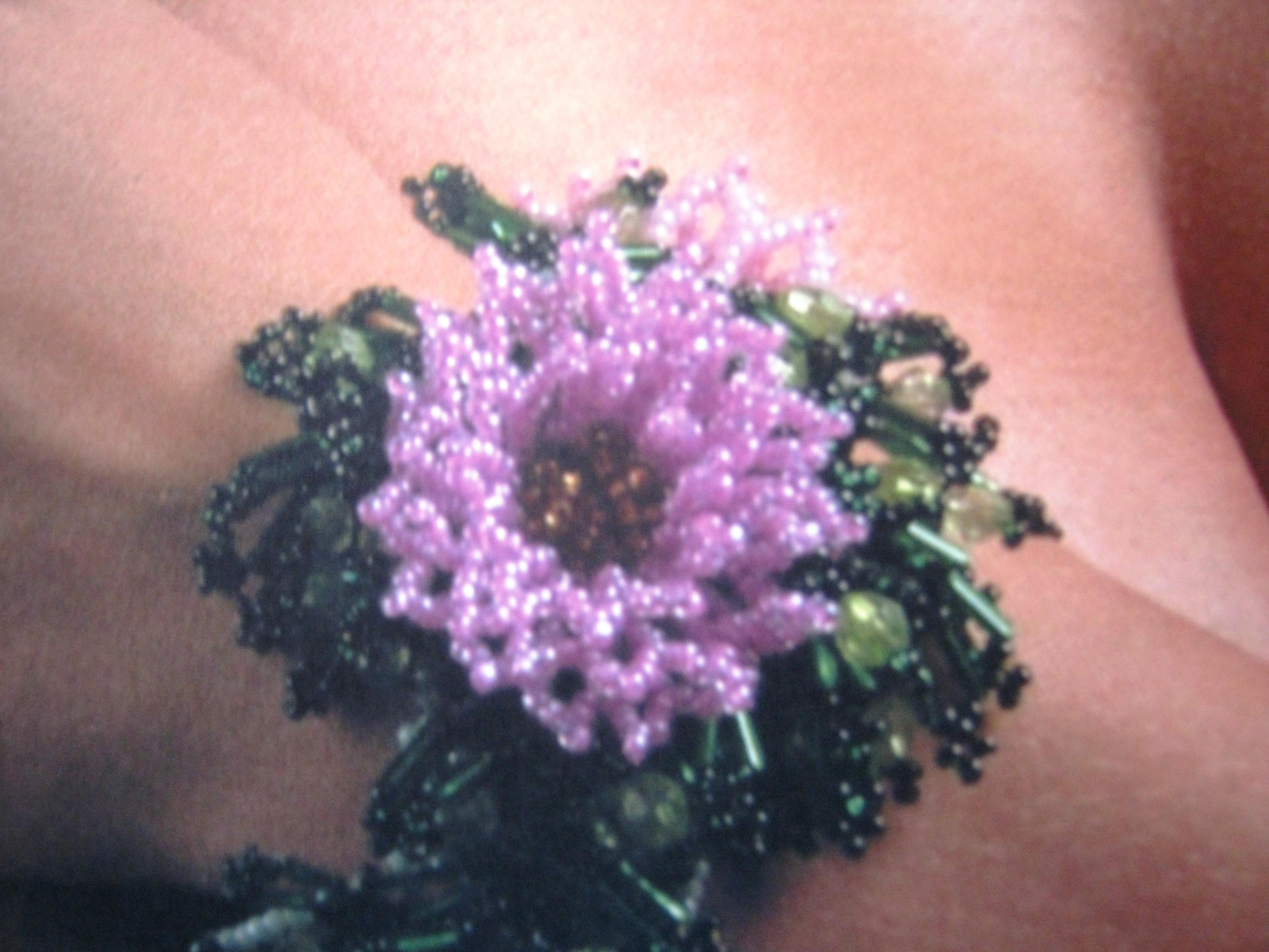 Как сделать весенний браслет из цветов Плетение 90