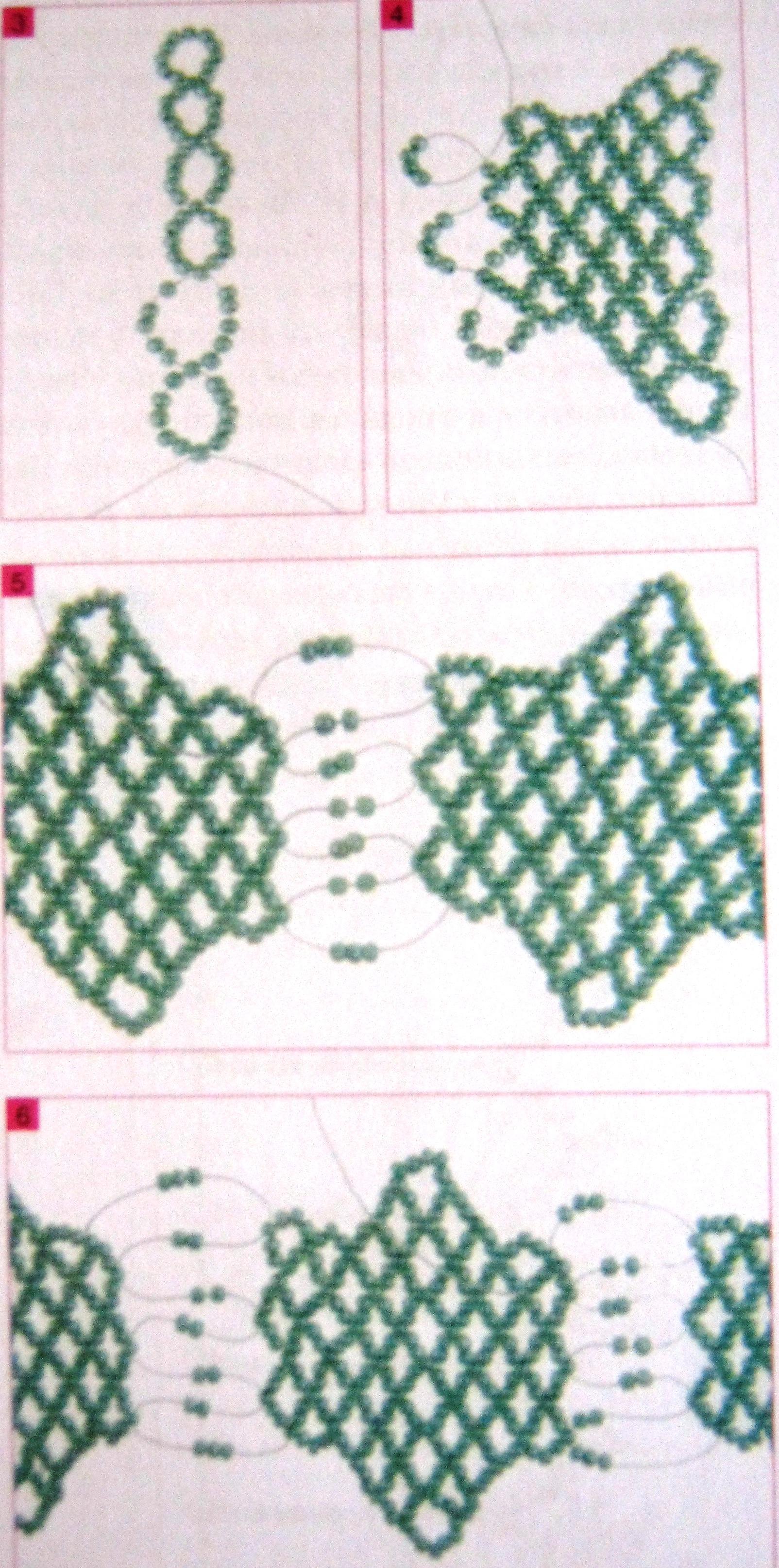плетение широких браслетов из бисера схемы