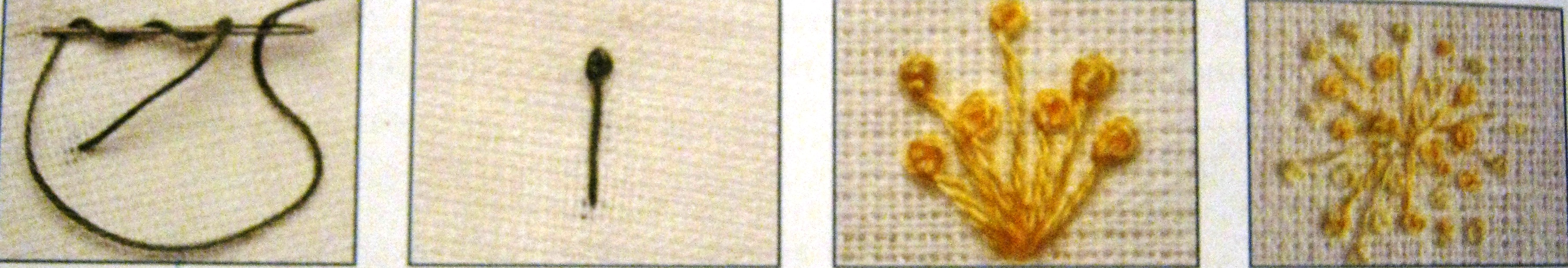 Французский узелок в вышивке крестом фото