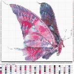 Как вышить красивую бабочку