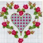 Схема вышивки сердца