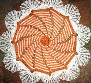 Большая полосатая салфетка