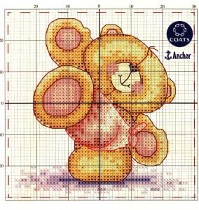 медведь вышивка крестиком
