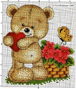 схема медведя