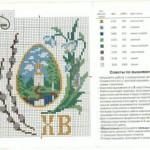 Схема вышивки пасхальной крашенки