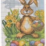 Схема вышивки пасхального зайца