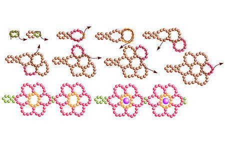 сложные схемы плетения из бисера