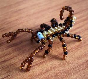 схема скорпиона из бисера