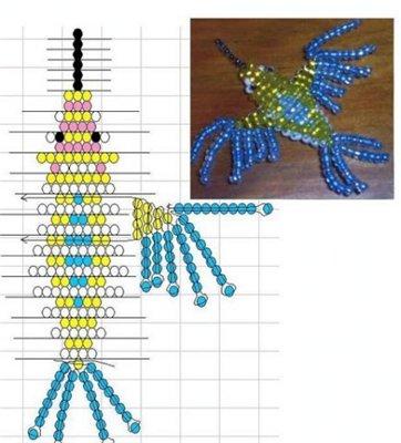 Плоская фигура лебедя из бисера.  Собака фигура из бумаги схемы.  Схемы для вышивки морской пейзаж.