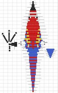 схема плетения попугая ара из бисера