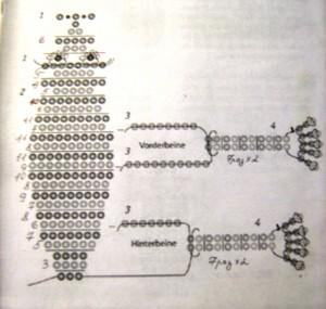 царевна-лягушка из бисера, схема