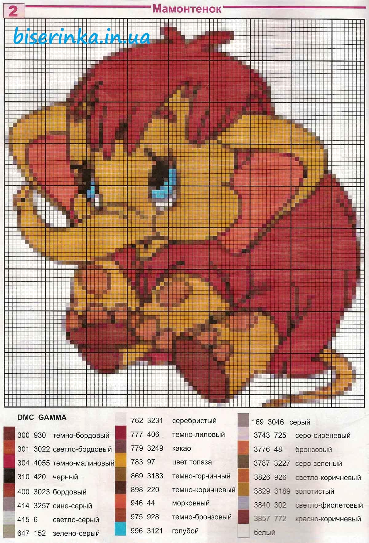 схема кота из бисера вышивка