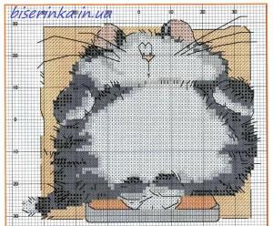 """Схема вышивки """"Толстый кот"""""""