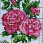 Схема вышивки бисером «Нежные розы»