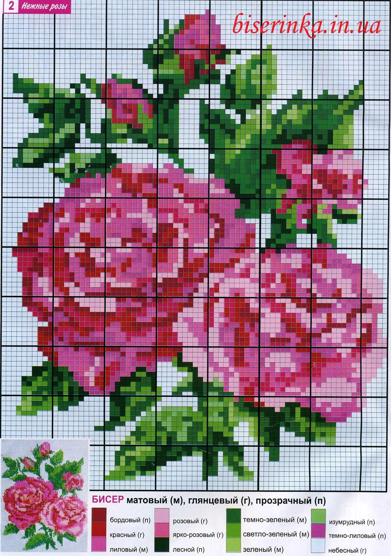 """Схемы  """"Вышивка из бисера: подсолнухи и розы """" ."""
