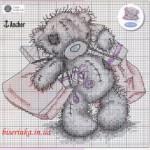 Схема вышивки «Мишка Тедди с подарками»