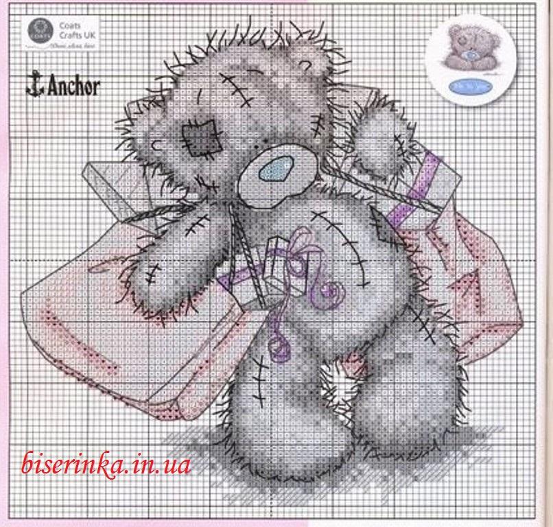 "Схема вышивки ""Мишка Тедди с"