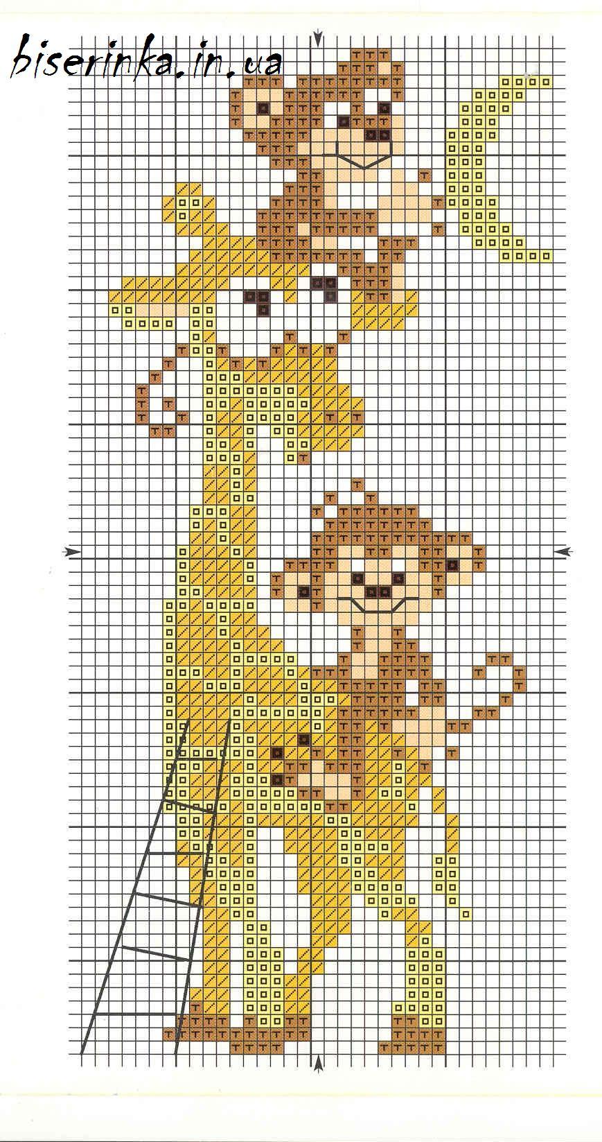 Вышивка крестиком жираф схема