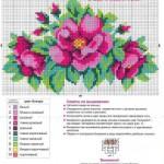 Схема вышивки бисером «Яркие цветы»