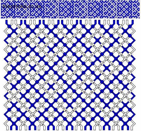 Широкая двухцветная фенечка