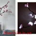 Светящаяся веточка сакуры