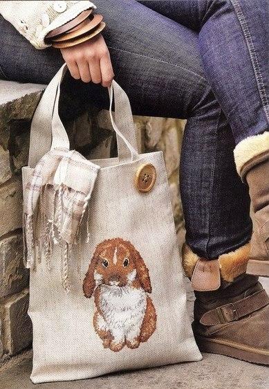 идею оформления сумки: