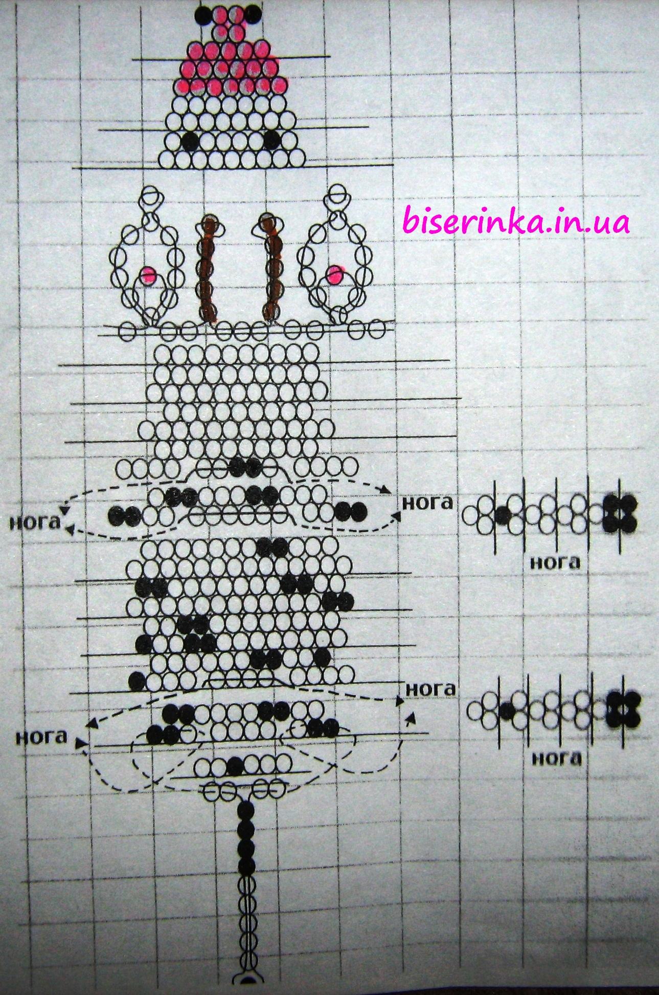 Схемы плетения свинки из бисера