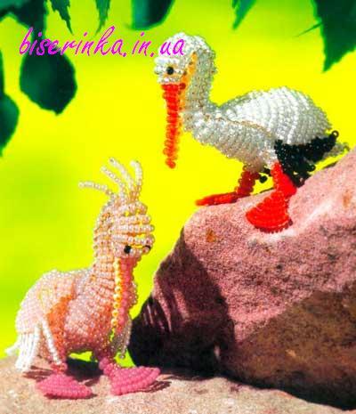 Готовая фигурка пеликана