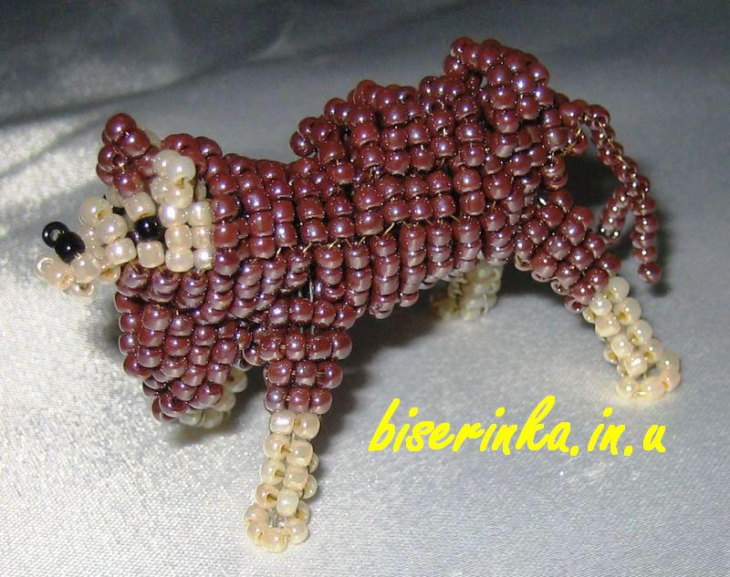 схемы животных из бисера.