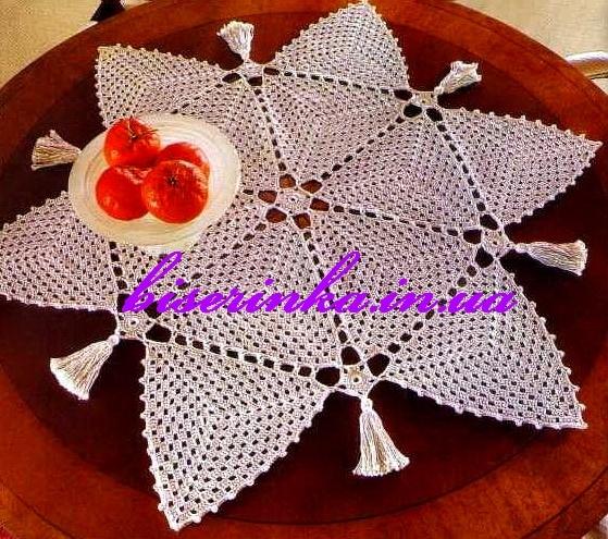 Схема вязания салфетки из