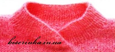 По окончанию вязания свитера нужно