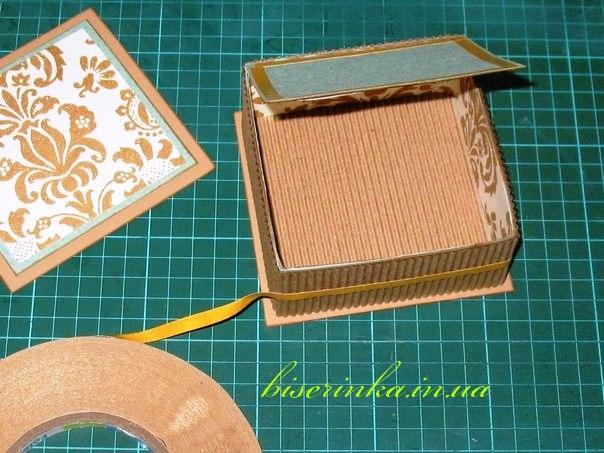 Шкатулка из картона своими руками фото мастер класс