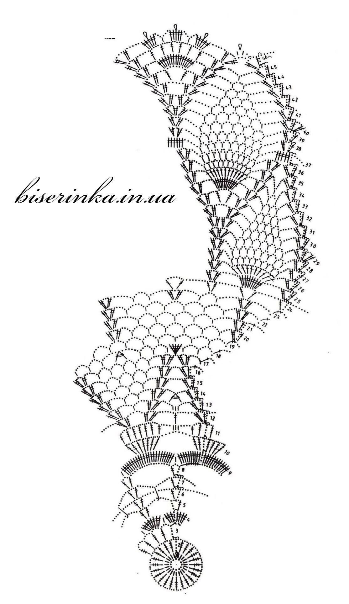 Как связать крючком красивую белую ажурную салфетку: схема с описанием 22