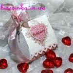 Подарочкая упаковка в виде сердечка