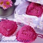 Сердечки валентинки вязанные крючком