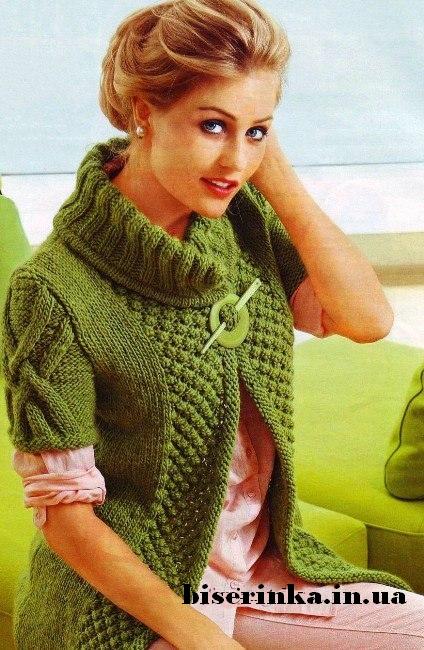 Женский жилет схема вязания