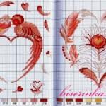 Схема вышивки валентинки к Дню Св Валентина