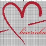 Схема вышивки Сердце со стрелой