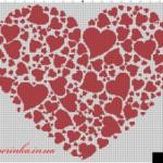Схема вышивки большое сердце