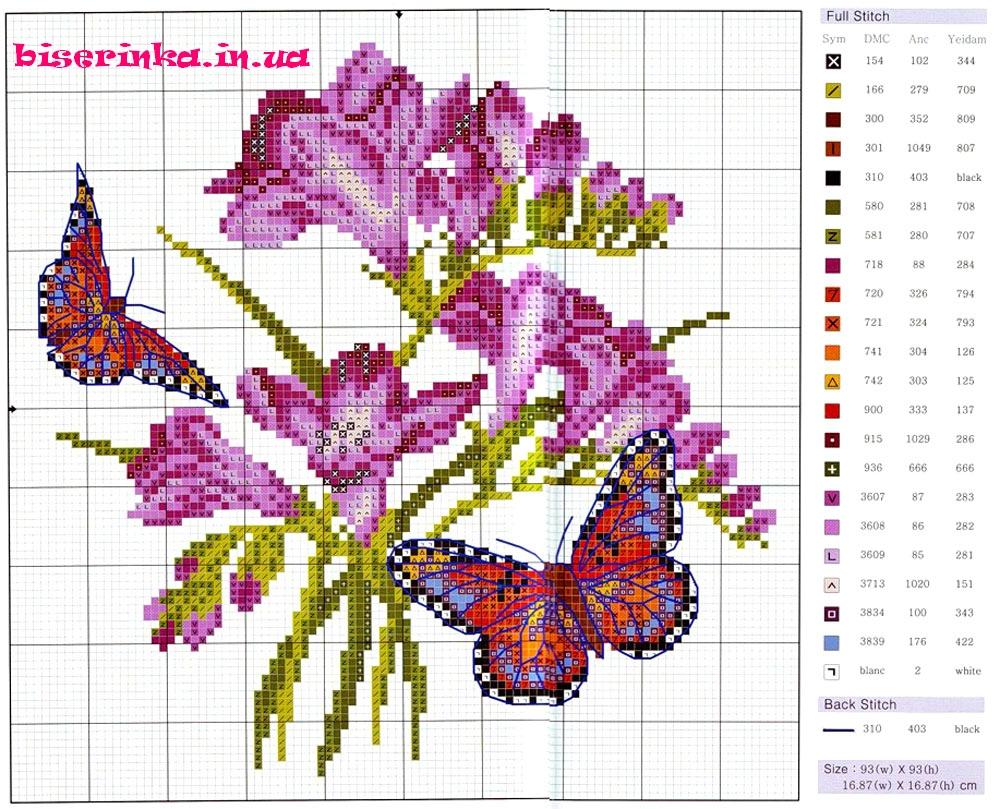 Вышивка схемы 3 цвета