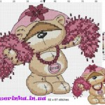 Схема вышивки «Медвежонок Тедди»