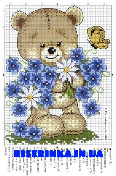 Схема вышивки «Медвежонок и